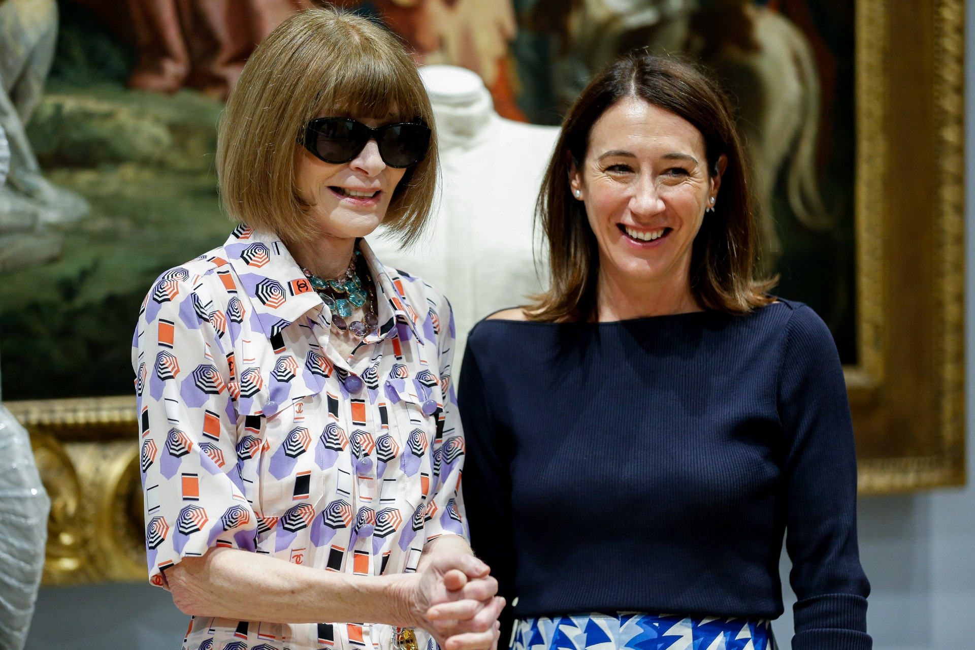 Anna Wintour meets with Australian designers at the NGV Designer Showcase in Melbourne