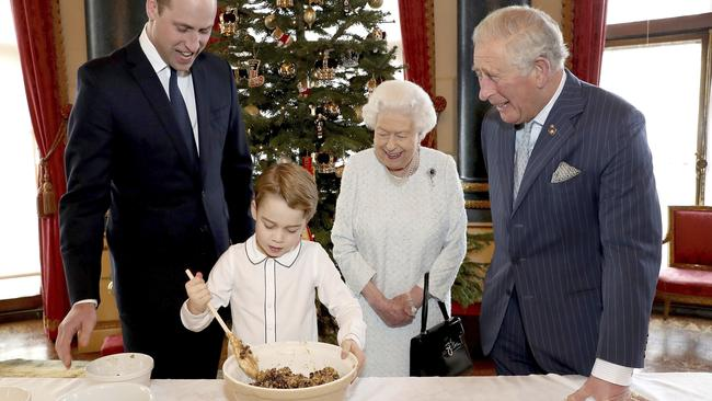 Four generations of royals together at Christmas to cheer up the Queen. Picture: Chris Jackson/Buckingham Palace via AP