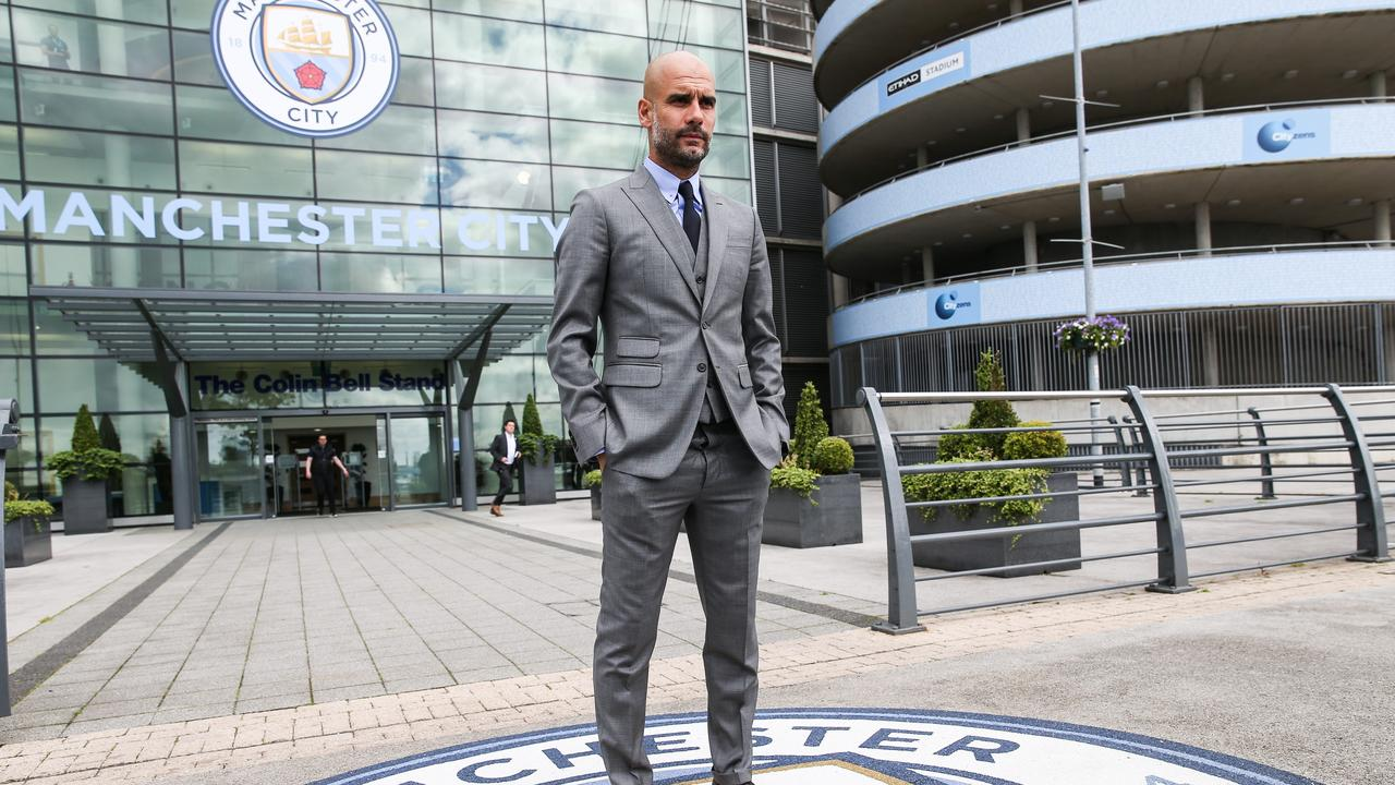 Guardiola arrived at the Etihad in 2016