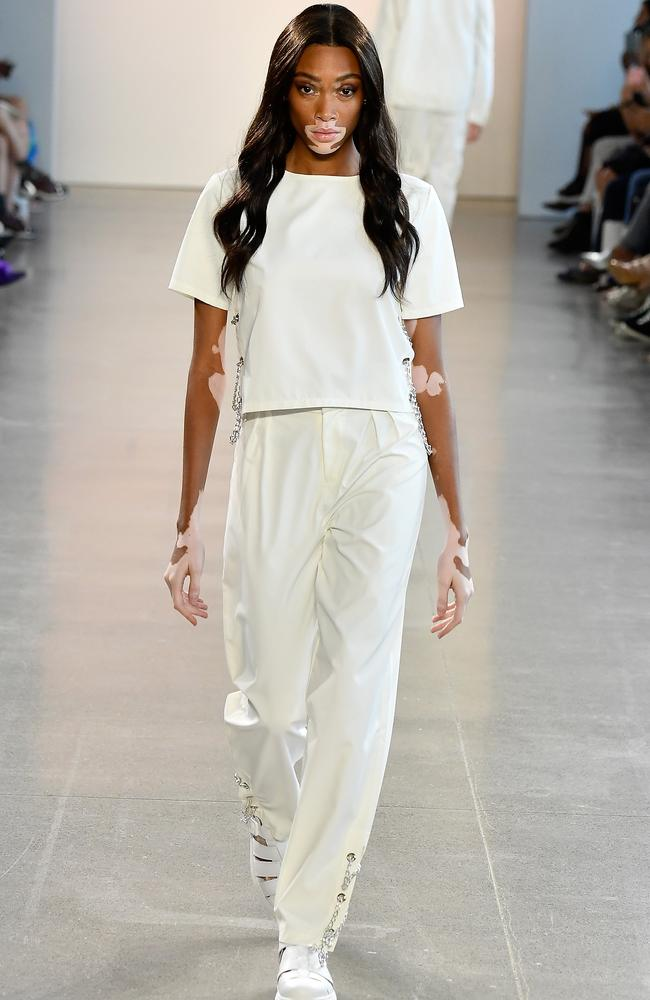 Winnie Harlow walked for Nana Judy. Picture: Getty Images for NYFW