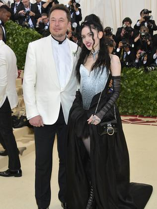 Elon Musk and rumoured girlfriend Grimes at the 2018 Met Gala. Picture: Getty