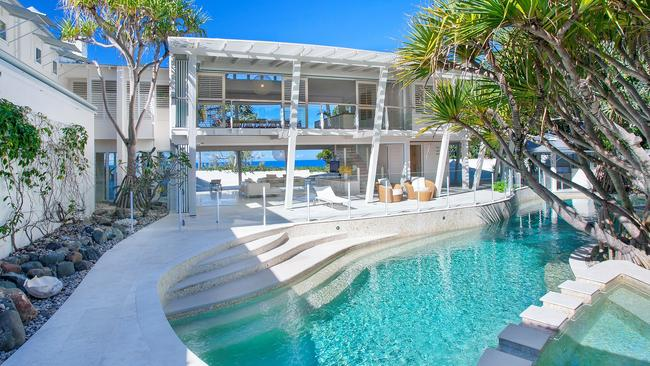 This property at 2 Belmore Tce, Sunshine Beach, was the most expensive home reported sold in Queensland's southeast in 2018/19.