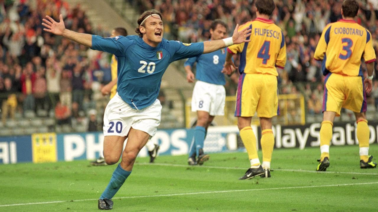 Francesco Totti was a goalscoring machine in the first ever FIFA game.