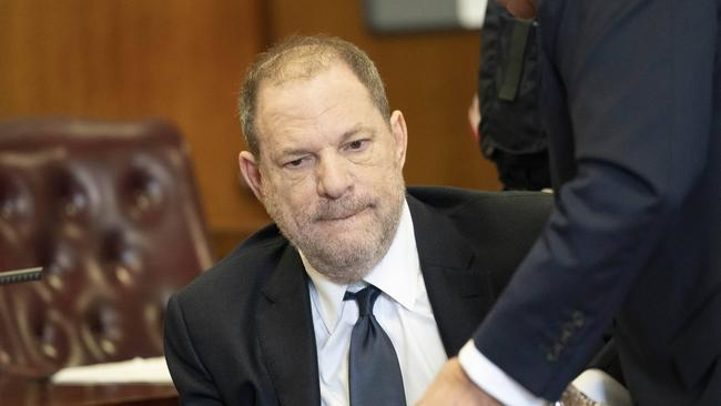 Harvey Weinstein in a New York court this month. Picture: Steve Hirsch/Sipa USA
