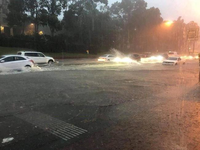 Sydney roads were left flooded and dangerous by the storm.