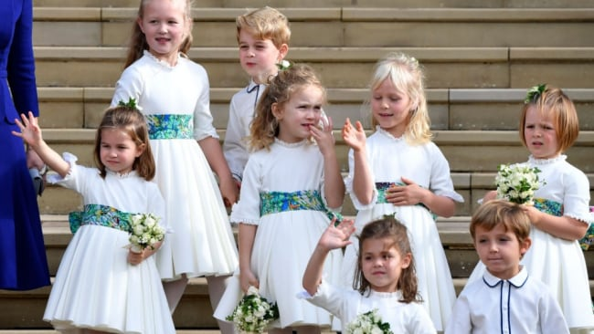 There is no shortage of kiddies running around Buckingham Palace. Image: Getty.