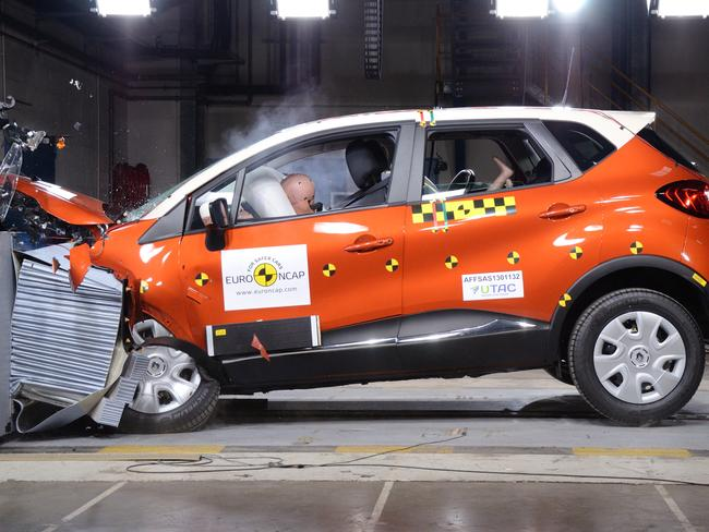Big bang theory ... the Renault Captur as tested by EuroNCAP. Picture: Supplied.