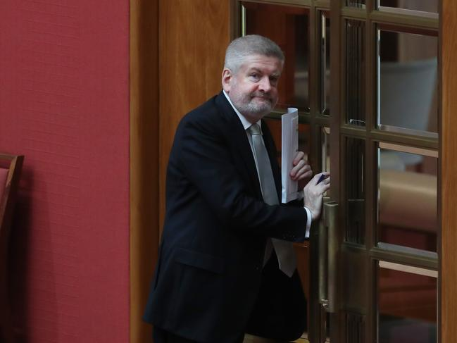 Senator Mitch Fifield announced the crackdown on piracy today. Picture: Kym Smith