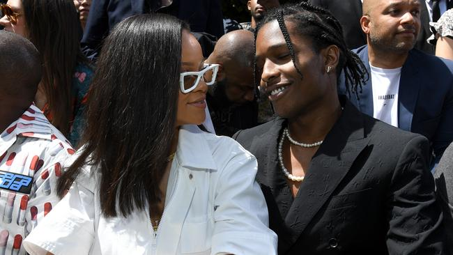 Rihanna and A$AP Rocky at Paris Fashion Week in June 2018 in Paris, France. Picture: Pascal Le Segretain/Getty Images