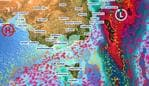 A wet and frosty weekend for southern and eastern Australia ahead. Picture: Sky News Weather.