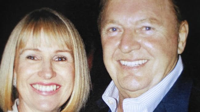 Alan Bond and wife Diana Bliss before she took her own life in 2012.