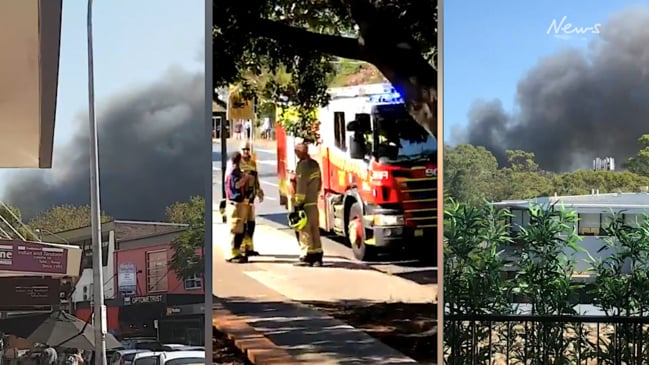 Lane Cove Public School on fire