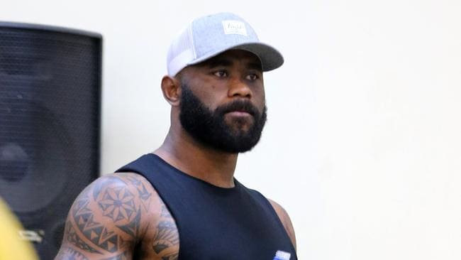 Semi Radradra during a workout at the National Fitness Centre in Suva, Fiji.
