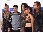 Cole Whittle, Joe Jonas, JinJoo Lee, Jack Lawless of DNCE with Ashley Graham attend the 2016 MTV Video Music Awards at Madison Square Garden on August 28, 2016 in New York City. Picture: Getty