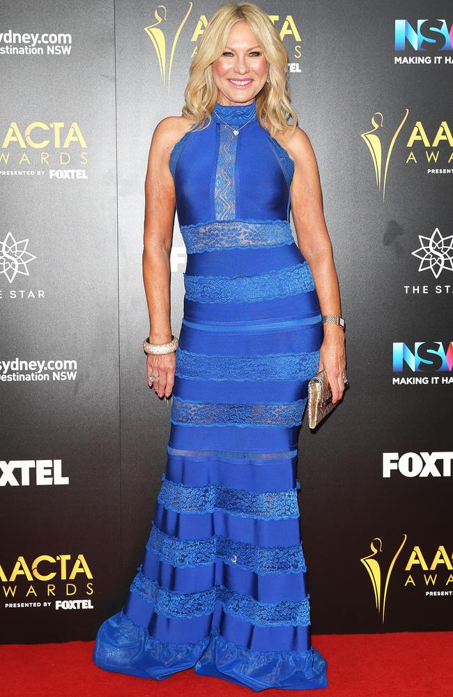 Kerri-Anne Kennerley shows off her bod on the AACTAs red carpet.