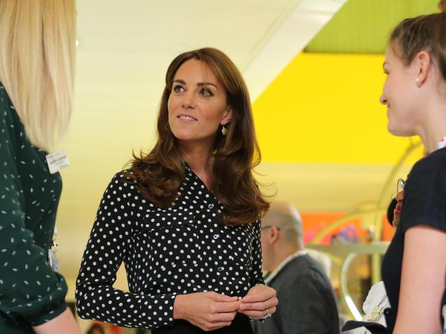 Britain's Catherine, Duchess of Cambridge met with the Southwark Family Nurse Partnership team to acknowledge their valuable work, in Peckham, south London. Picture: AFP