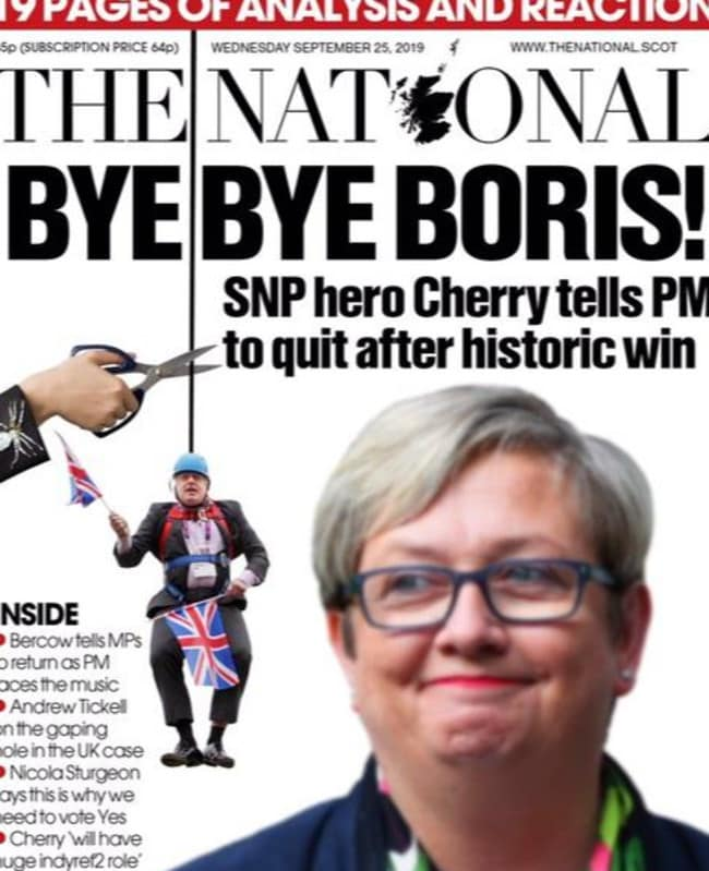 Another Scottish paper, The National.