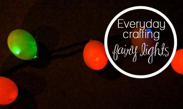 How to make eggshell fairy lights