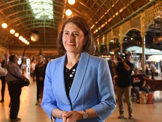 New South Wales Premier Gladys Berejiklian at Central Station on December 4, 2018. The NSW Government has also pledged to start work on a fast rail network.