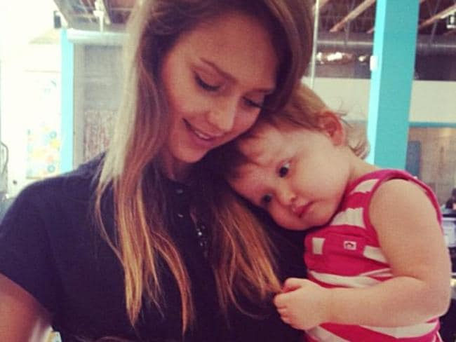 Jessica Alba and her daughter, Haven.