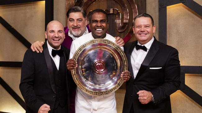 George Calombaris, Matt Preston, Sashi Cheliah and Gary Mehigan.