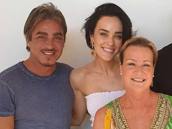 Sarah Budge with her mum and John Ibrahim. Picture: sarah_budge/Instagram