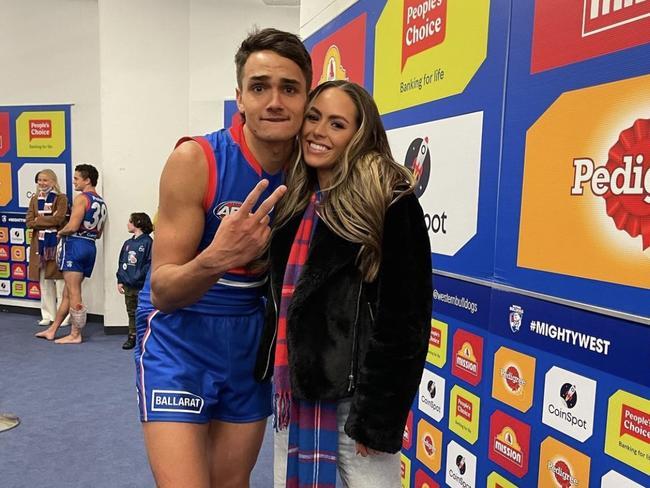 Ugle-Hagan is dating Mia Fevola, daughter of AFL legend Brendan. (Pic: Instagram)