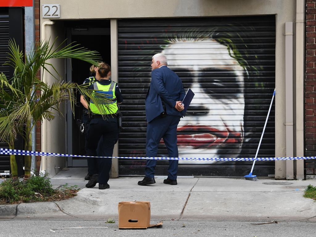 Raid at Mongols' clubhouse in Port Melbourne.