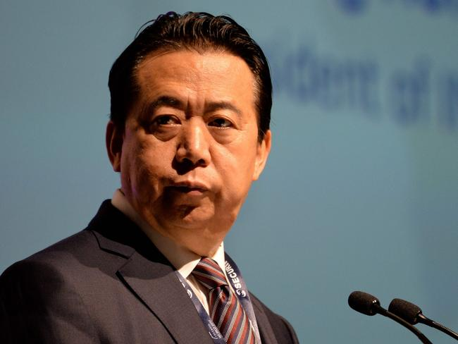 Meng Hongwei, president of Interpol, has reportedly resigned as the agency's president amid Beijing probe. Picture: Roslan Rahman/AFP