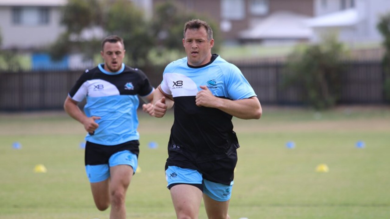 Josh Morris during Sharks pre-season training. Pic: Sharks media