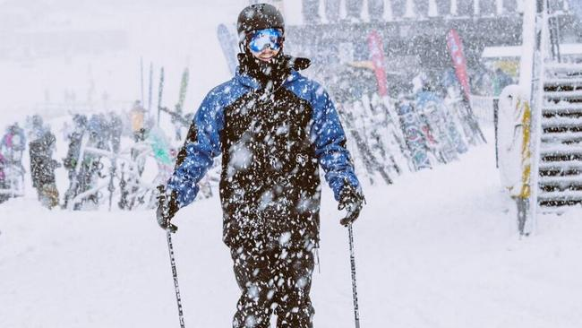 """It's really coming down at Perisher right now. Locals call this sort of snowfall """"pukage"""" but we'd never use such a vulgar term. Well..."""