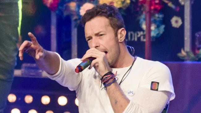 Loving life ... Coldplay's Chris Martin in Berlin, Germany. Picture: Getty