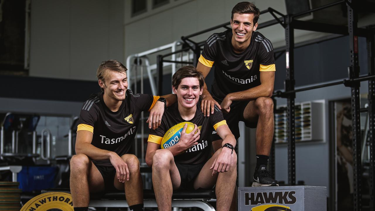 Josh Morris, Will Day and Finn Maginness have all joined Hawthorn. Photo: Photo by Martin Keep/Getty Images
