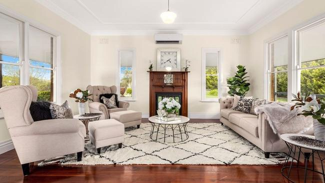 A mix of formal and informal living spaces are on show throughout.