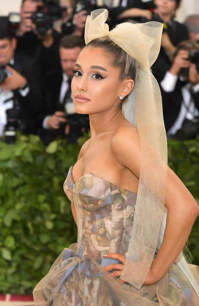 She teamed it with a bow at the Met Ball in May. Picture: AFP