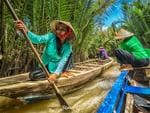 'Paddle to survive' - I took the photo during our trip in Ho Chi Minh, Vietnam last November 2014, the location is at the Mekong Delta River, was riding on the boat bringing my camera and shot this photo handheld at lower angle just in time this boat pass us, These local folks, male or female, old and youngsters are striving to have income to support their families, paddling along the river entertaining tourists in a 10 to 20 minute boat ride is their main source of income. Picture: Hamlito Jr Arayan Nocete, Winner, Philippines, National Award / 2015 Sony World Photography Awards