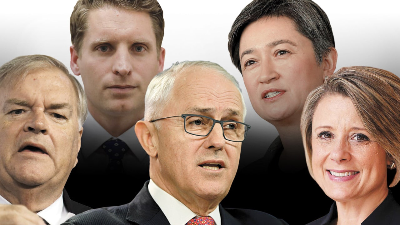 Higher authority: Kim Beazley, Andrew Hastie, Malcolm Turnbull, Penny Wong and Kristina Keneally.