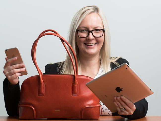 Kate Bruce is on the lookout for a new handbag that may be tax-deductible. Picture: Matt Loxton
