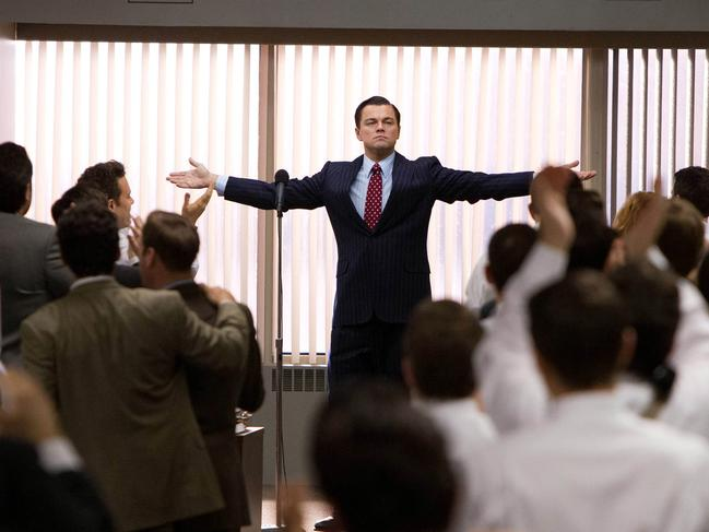 The Wolf of Wall Street with Leonardo DiCaprio. Picture: AP