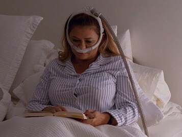 MAFS contestant Mishel Karen uses a CPAP machine for her sleep disorder – but revealed it also had an effect on her appearance. Picture: Channel 9