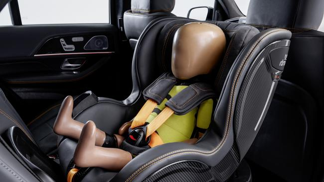 Mercedes-Benz's child seat prototype means parents never have to take their eyes off the road.