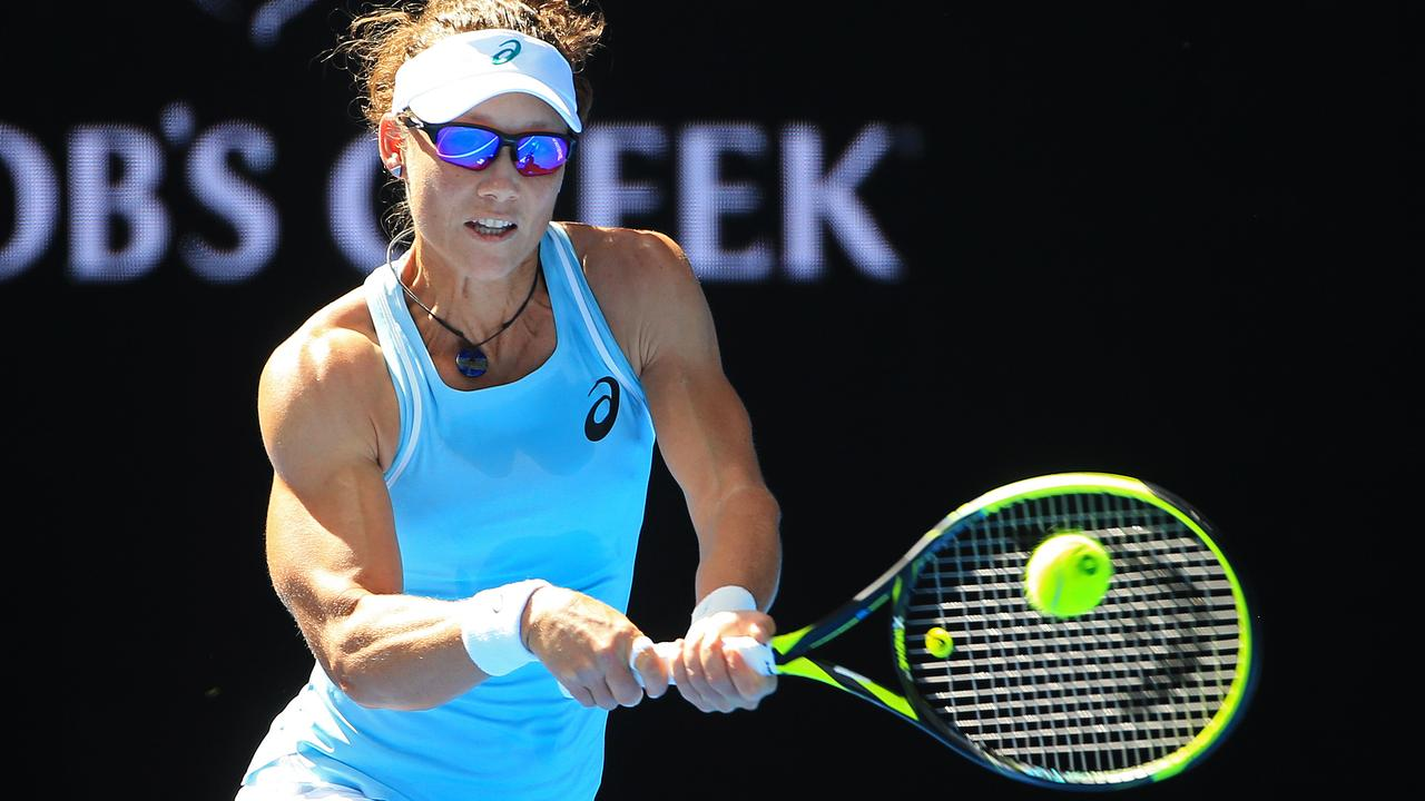 Sam Stosur in action at the 2018 Australian Open. Picture: Mark Stewart