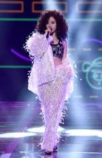 Singer Jane Zhang performs on the runway during the 2017 Victoria's Secret Fashion Show In Shanghai at Mercedes-Benz Arena on November 20, 2017 in Shanghai, China. Picture: Frazer Harrison/Getty Images for Victoria's Secret