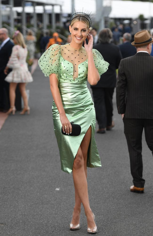 Laura's wild ensemble definitely made a statement. Picture: AAP/James Ross