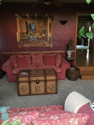 Margie's family room is still clutter free. Picture: Supplied