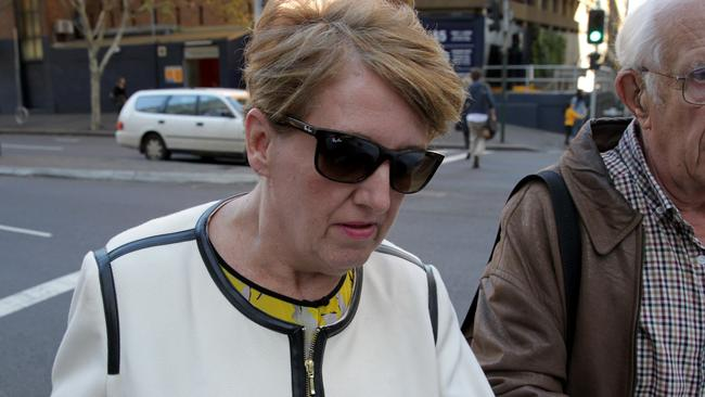 Karen Bailey leaves the Downing centre courts.