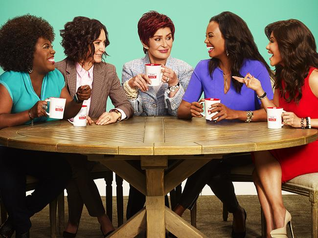 Sara Gilbert launched The Talk, which starred Sheryl Underwood, Sharon Osbourne, Aisha Tyler and Julie Chen. Picture: Getty