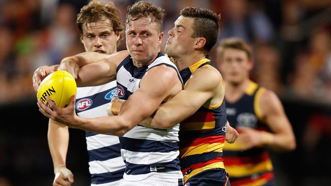 Mitch Duncan returns from injury for Geelong.
