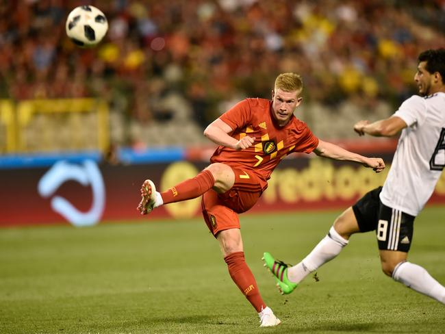 Belgium's midfielder Kevin De Bruyne (L) pulled the strings in Manchester City's remarkable season. Pic: AFP