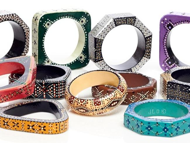 These bangles are made to be stacked.